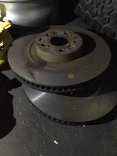 Brake disc with clipper.