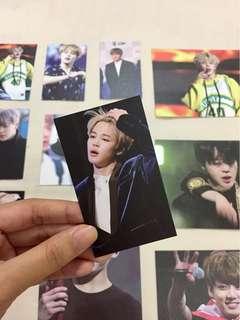 BTS jimin and jungkook fansite goods