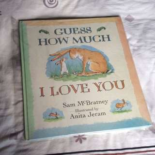 """Guess How Much I Love You (biggest Story Book 13.5"""" X 15.5 """" Inches"""
