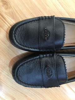 Brand new authentic Coach black leather shoes size 5.5