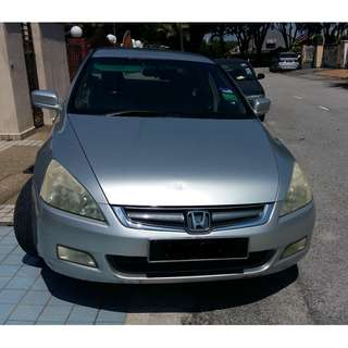 Honda Accord 2.4L - Accidental Free