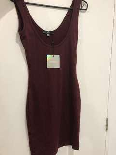 Misguided scoop bodycon dress