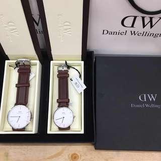 dw couple watch w/box