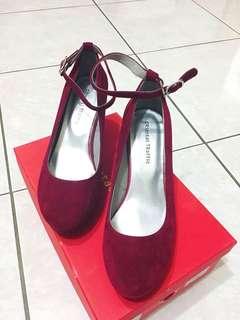 Oriental traffic 紅色瑪莉珍鞋