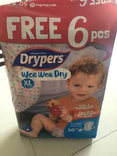 Drypers Wee Wee Dry (XL) 56pieces