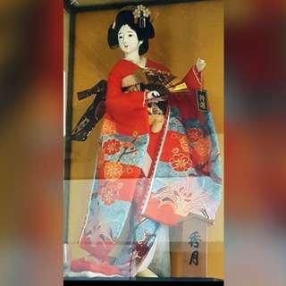 日本 藝伎娃娃 秀月 人偶