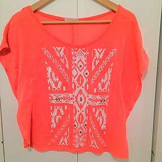 Neon Like Pink Coral Top
