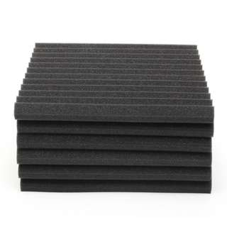 🚚 12PCs Acoustic Foam Panels Music Recording Studio Soundproof Absorption (2.5X30X30CM)