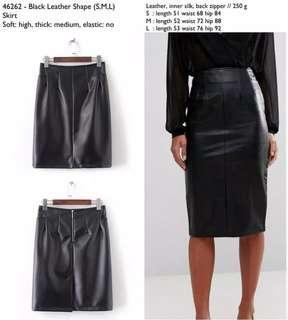 Black Leather Skirt / Rok leather