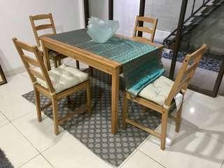Meja Makan Ikea (Free Karpet/Rug)