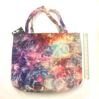 Galaxy paddlepop tie dye graphic tote bag