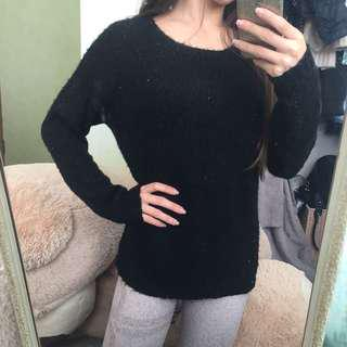 JayJays black sequinned sweater size small