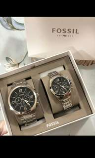 💯%ORIGINAL FOSSIL COUPLE WATCH 1pair left