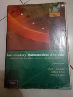 INTRODUCTORY MATHEMATICAL ANALYSIS 3th EDITION
