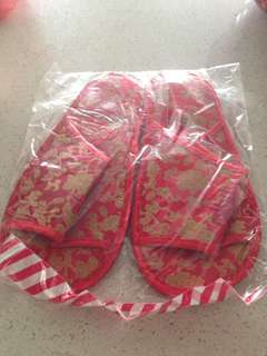 Man wedding slippers