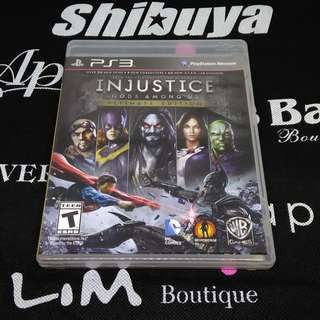 PS3 Game Injustice Gods Among Us Ultimate Edition
