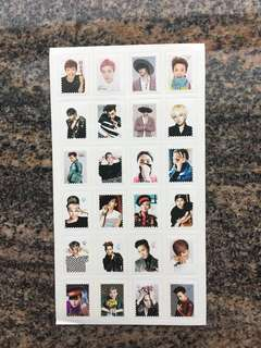 韓星 男團 Bigbang 大爆炸 G-dragon GD 權志龍 貼紙 $20兩張