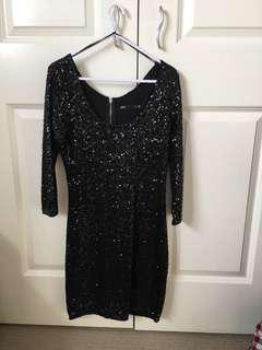 Little black glitter dress