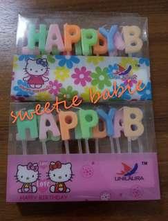HAPPY BIRTHDAY 0-9蠟燭