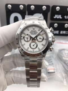 Rolex Daytona Cosmograph 116520 Stainless Steel Case White Dial on Stainless Steel Bracelet