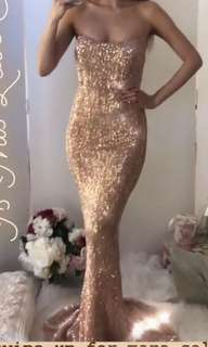 Rent sequinned formal gown