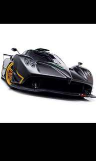 Autoart 1/18 Pagani Zonda R (Carbon and Italian Stripe)