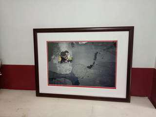 Picture xxl frame hardwood w/ glass front cover