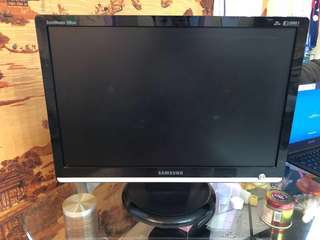 "三星 SAMSUNG 206BW Black 20"" Widescreen LCD Monitor 顯示屏 顯示器"