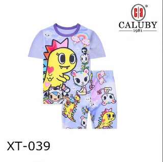 Purple Kaiju T shirt Set