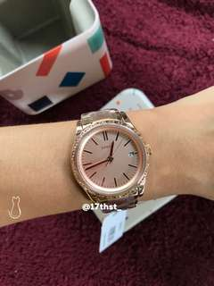 FOSSIL Adalyn Three-Hand Rose Gold-Tone Stainless Steel Watch