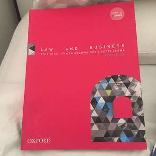 Law and business textbook by tony ciro Oxford