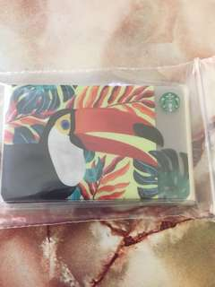 Starbucks card taiwan toucan