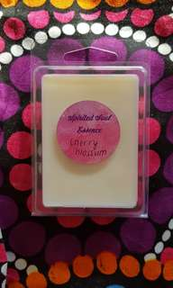 Cherry Blossum fragranced soy wax melts, one pack of six