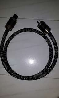 Used power cable using acrolink p-50, c-50 tubes, guitar, hifi, preamp, speaker, amplifer, cd player, dac, turntable, headphone, audiophile, interconnect, cable