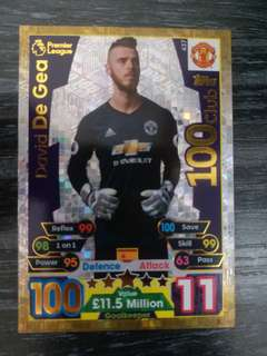 2017-18 match attax 100club David De Gea
