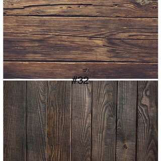 Wood Style Shooting Backdrop Photography (Ready Stock)