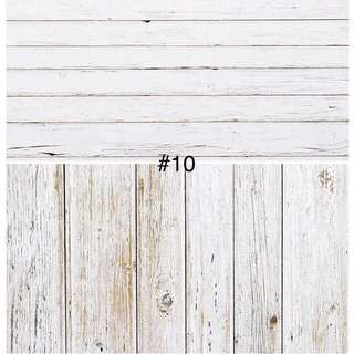 White Wood Shooting Backdrop Photography (Ready Stock