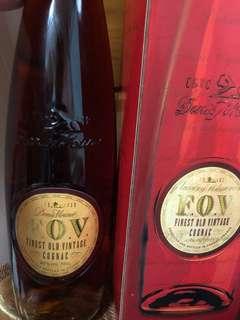 Finest Old Vintage FOV Cognac 長頸法國干邑
