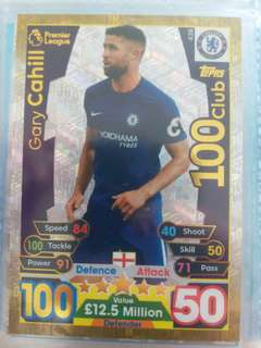 2017-18 match attax 100club Gary Cahill