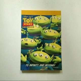 全新 Toy Story 三眼仔 簿 筆記簿