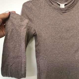 F21 • brown long sleeve sweatshirt