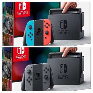 Nintendo Switch Console ( 行貨:香港版) 多國語言顯示,國際電壓 100-240v 兼容全世界游戲版本 )