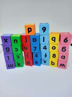 Wood Blocks (Alphabets and Numbers)