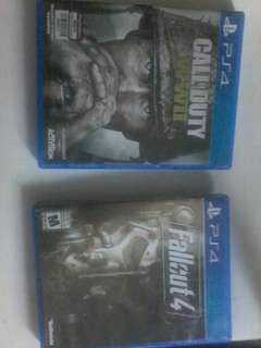 Ps4 fall out 4 & cod ww2