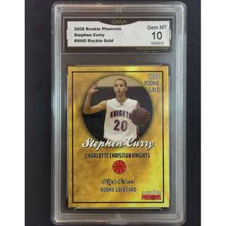 Stephen Curry Card 2008 Phenoms Rookie Gold Original Card