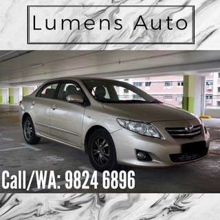 Toyota Altis - Car Rental for Grab/Personal use