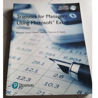 Statistics for Managers Using Microsoft Excel, Global Edition (8th Edition)