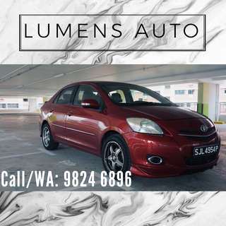 Toyota Vios - Car Rental for Grab/Personal use