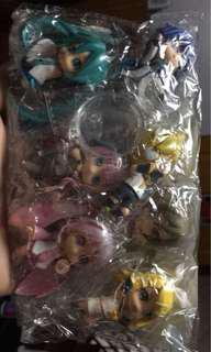 Vocaloids Miku Rin 2 inch chibi size