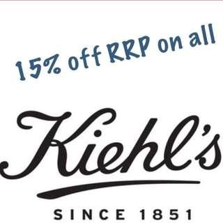 Kiehl's 15% off